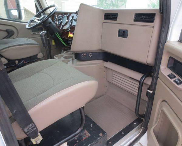 Inside of an international Truck