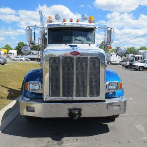 Peterbilt White and Blue Truck